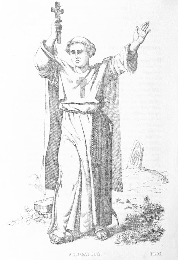 Kristendom  historie  Ansgar  MELLIN 1850  p1 306 ANSGARIUS  wiki