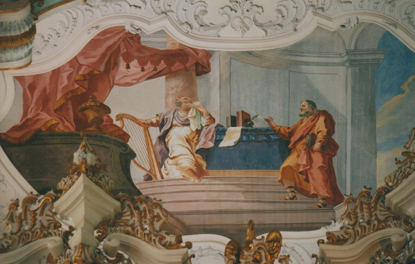 Hvad er lignelser  Profeten natan og kong david  1024px Wallfahrtskirche auf der Wies 01  wiki