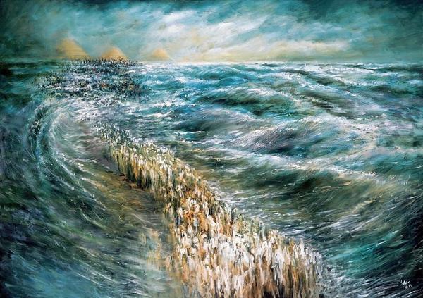 Moses og det roede hav  1024px KriatYamSoof  wiki